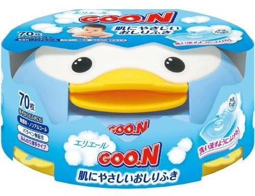 Goon Салфетки влажные для младенцев в пластиковой коробке 70 шт