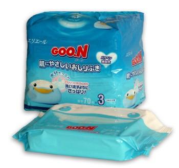 GOO.N влажные салфетки для малышей (запасной блок), 70 шт
